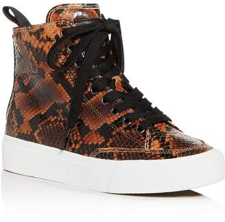 Rag & Bone Women's Snake-Embossed High-Top Sneakers