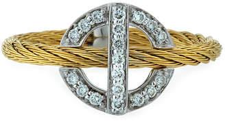 Alor Diamond Circle-Station Ring, Gold, Size 6.5