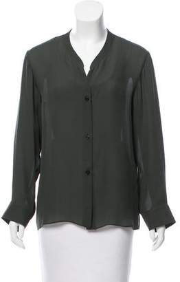 Emilio Pucci Long Sleeve Button-Up Blouse