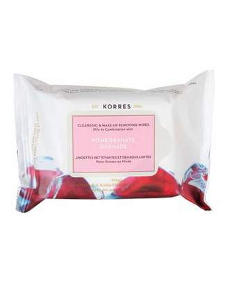 Korres Pomegranate Cleansing Wipes 25 CT