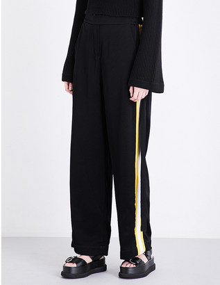 Ellery Reality flared high-rise crepe trousers