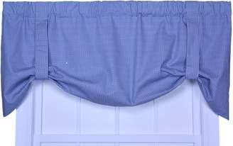 Logan Ellis Curtain Gingham Check Print Tie-Up Valance Window Curtain