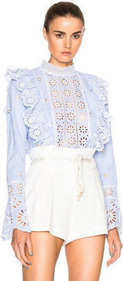 Sea Exploded Eyelet Top $345 thestylecure.com