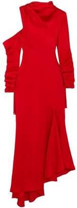 Monse Asymmetric Cutout Satin Maxi Dress
