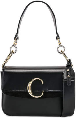 Chloé Small C Double Carry Bag in Black | FWRD