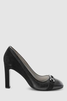 5f8f5e920f2 Next Womens Black Forever Comfort Buckle Detail Court Shoes