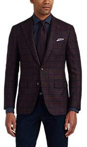 Canali Men's Capri Checked Cashmere Two-Button Sportcoat - Red