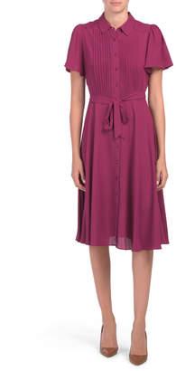 Crepe Chiffon Shirt Dress