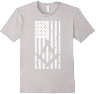 Men's Stars Stripes Square and Compasses Masonic T-Shirt