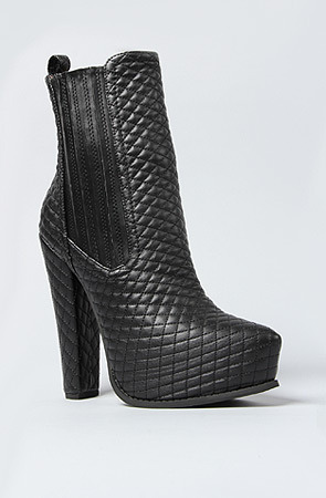 Jeffrey Campbell The Avalos Boot in Black Quilt