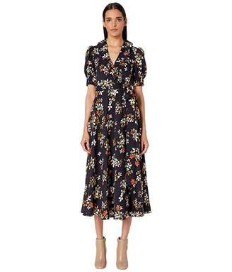 Jill Stuart Floral Midi Dress