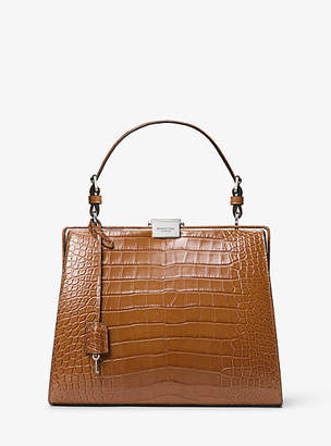 Michael Kors Simone Alligator Top-Handle Bag