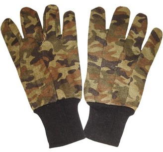 CORDOVA SAFETY PRODUCTS Green Camouflage Men's Jersey Gloves, 12 Pair