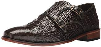 Stacy Adams Men's Golato Cap Toe Double Monk Strap Oxford