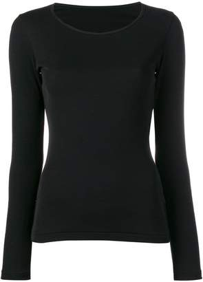 Yohji Yamamoto long-sleeve fitted sweater