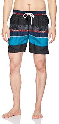Kanu Surf Men's Fusion Stripe Quick Dry Beach Volley Swim Trunk