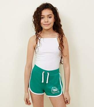 New Look Teens Green East Side Slogan Shorts