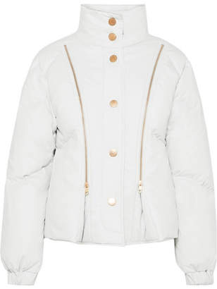 See by Chloe Zip-detailed Shell Down Jacket - White