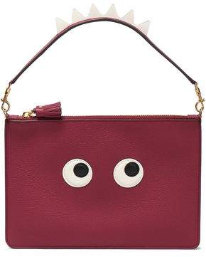 Anya Hindmarch Appliqued Pebbled-leather Pouch