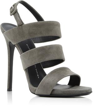Giuseppe Zanotti Alien Suede Sandals $695 thestylecure.com