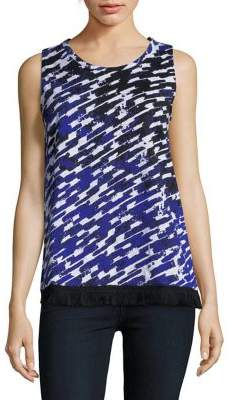 Lord & Taylor Printed Cotton Tank Top