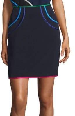 Harvey Faircloth Tiered Pocket Pencil Skirt