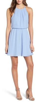 Lush Blouson Chiffon Skater Dress