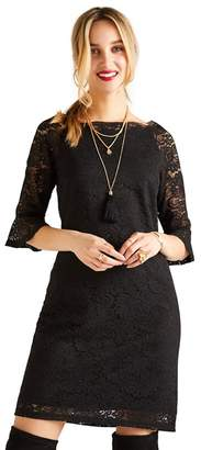 Yumi Black Strapless Lace 'Harlow' Mini Shift Dress