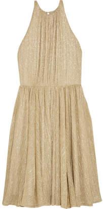 Halston Metallic Lurex Mini Dress - Gold