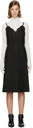 Carven Black Scalloped Dress