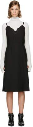 Carven Black Scalloped Dress