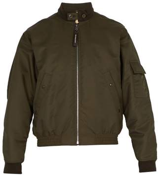Burberry Moseley Check Lined Nylon Bomber Jacket - Mens - Green
