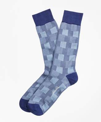 Brooks Brothers Patchwork Plaid Crew Socks