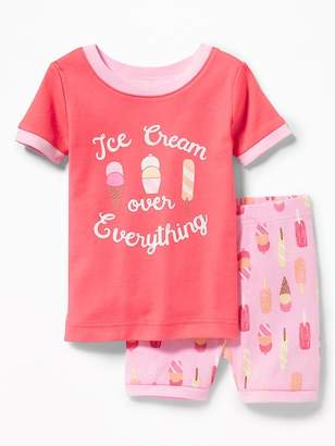 """Old Navy """"Ice Cream Over Everything"""" Sleep Set for Toddler & Baby"""