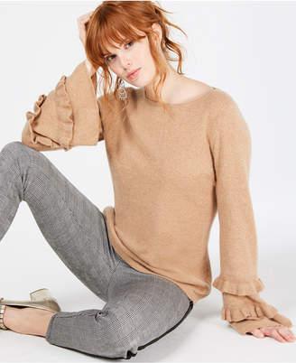 Charter Club Ruffled Pure Cashmere Sweater