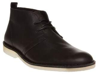 Sole New Mens Black Albion Leather Boots Chukka Lace Up