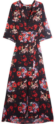 KENZO - Floral-print Silk-georgette Maxi Dress - Red $1,040 thestylecure.com