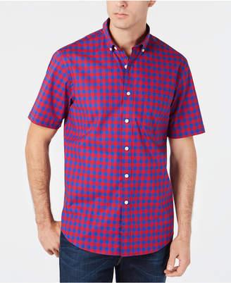 Club Room Men's Regular-Fit Stretch Check Shirt