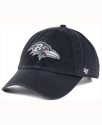 '47 Brand Baltimore Ravens Charcoal White Clean Up Cap $27.99 thestylecure.com