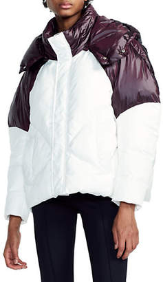 Maje Brax Hooded Puffer Jacket