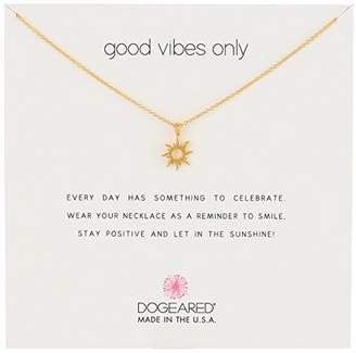 Dogeared Reminders- Good Vibes Only Dipped Sun Charm Necklace