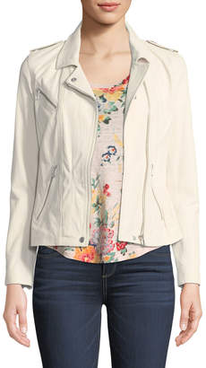 Rebecca Taylor Washed Lamb Leather Jacket