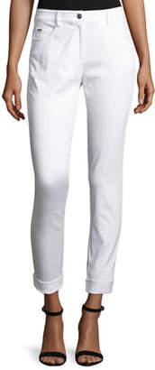 St. John Bardot Slim-Fit Capri Jeans, Bianco