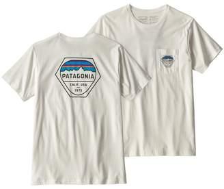 Patagonia Men's Fitz Roy Hex Organic Cotton Pocket T-Shirt