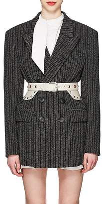 Isabel Marant Women's Jaxen Striped Wool-Blend Tweed Double-Breasted Blazer