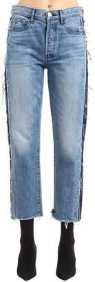 3x1 Cora Crop Two Tone Stretch Jeans