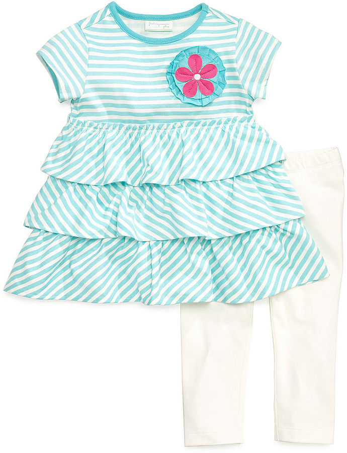 First Impressions Baby Set, Baby Girls 2-Piece Ruffle Dress and Leggings