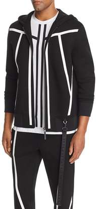 BLACKBARRETT by NEIL BARRETT Tape-Stripe Scuba Hoodie