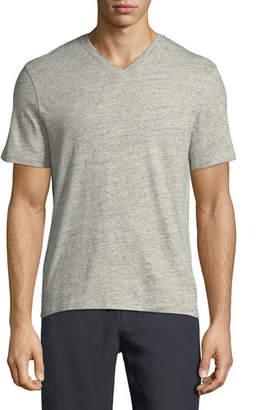 Vince Cotton/Linen V-Neck T-Shirt