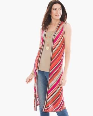 Mitered Stripe Pattern Vest